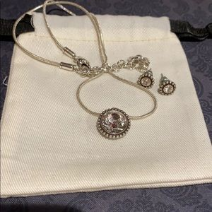 Brighton stone necklace & earrings